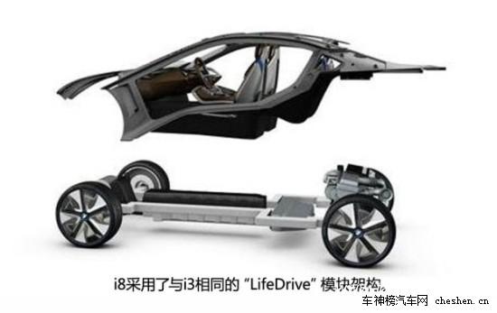 宝马i8车身结构融合碳纤维与金属